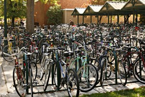 Bikes in front of science building kill Wi-Fi